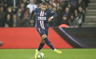 Kylian Mbappé lors de PSG-Bordeaux, le 23 février 2020.