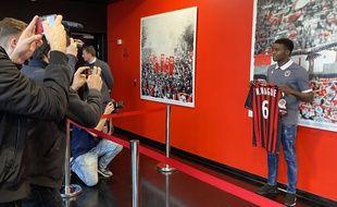 Prêté à l'OGC Nice, Moussa Wagué a été présenté à la presse lundi 3 février 2020