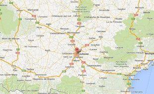 Googlemap de Toulouse.