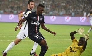 Le Parisien Jean-Christophe Bahebeck lors du Trophée des champions remporté contre Guingamp (2-0), le 2 août 2014 à Pékin.