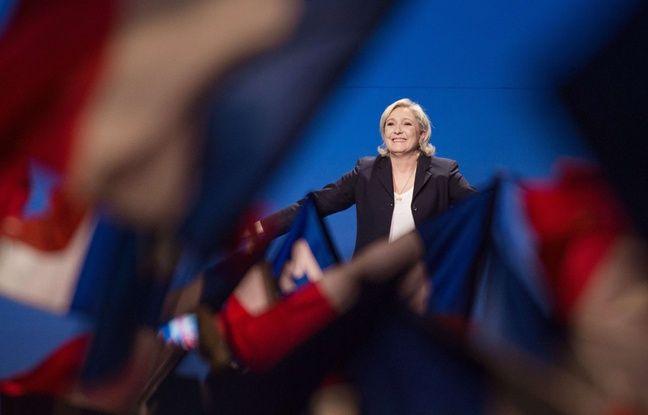 Marine Le Pen en meeting à Villepinte, le 1er mai 2017.