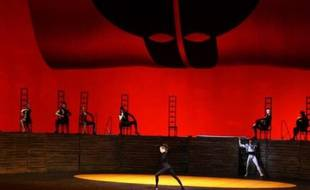 Photo extraite d'une vidéo AFP montrant des danseurs du Bolchoï lors de la répétition d'un spectacle de charité au profit de l'Ecole chorégraphique de Kiev donné au théâtre du Bolchoï dimanche 7 décembre à Moscou