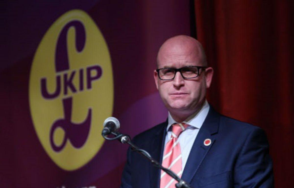 Paul Nuttall a été élu le 28 novembre nouveau leader de l'Ukip – Ian Hinchliffe/Shutters/SIPA