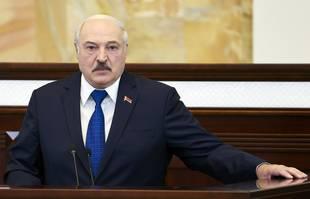 Le président biélorusse Alexandre Loukachenko au Parlement à Minsk, en Biélorussie, mercredi 26 mai 2021.