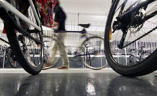 Le parking à vélos de la gare de Rennes.
