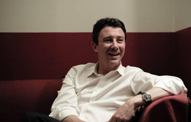 Benjamin Griveaux, porte-parole de la REM et candidat aux législatives à Paris, le 31 mai 2017 avant un meeting.