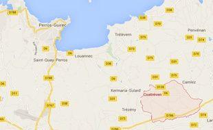 L'accident s'est déroulé vendredi soir à Coatreven dans les Côtes d'Armor.