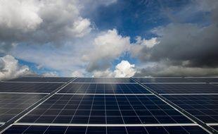 Illustration de panneaux photovoltaïques.