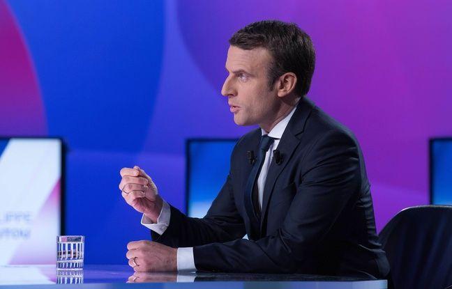 Emmanuel Macron sur le plateau de France 2, le 20 avril 2017