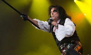 Le chanteur Alice Cooper sur scène en Suède à Göteborg en juillet dernier