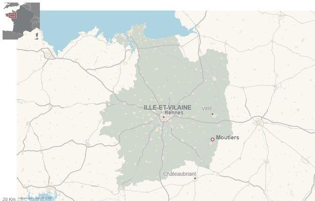 L'accident s'est produit ce jeudi matin sur la commune de Moutiers en Ille-et-Vilaine.