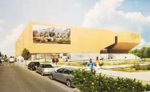 Le projet du futur cinéma Pathé à Lille-Sud.