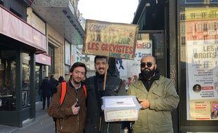Des conducteurs RATP en grève contre la réforme des retraites, le 16 janvier 2020 à Paris.