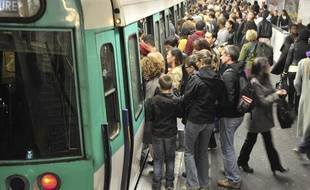 Le métro parisien, illustration.
