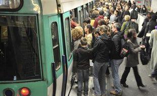 Le métro parisien, illustration.