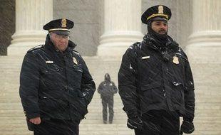 Policiers à Washington.