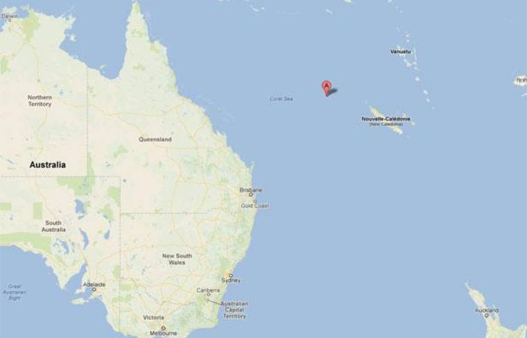 Google Maps de Sandy Island.