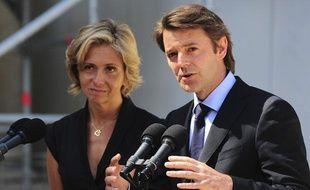 François Baroin, le ministre de l'Economie, et Valérie Pécresse, porte-parole du gouvernement, rendent compte de la réunion de travail qui s'est tenue à l'Elysée le mercredi 10 août.