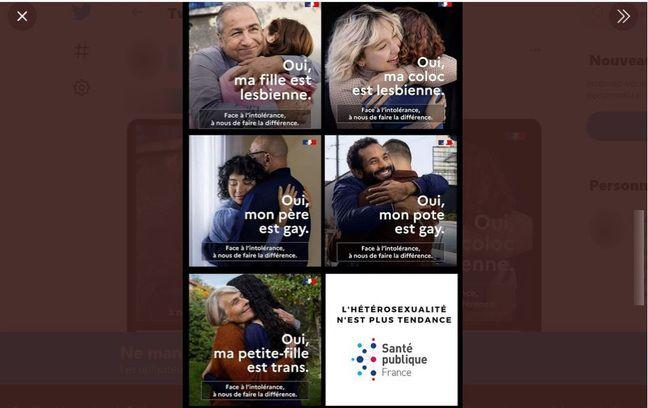Le visuel en bas à droite ne fait pas partie de la campagne de Santé publique France.