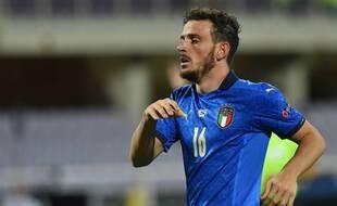 Alessandro Florenzi, ici sous le maillot de l'Italie, est prêté au PSG pour la saison 2020-2021.
