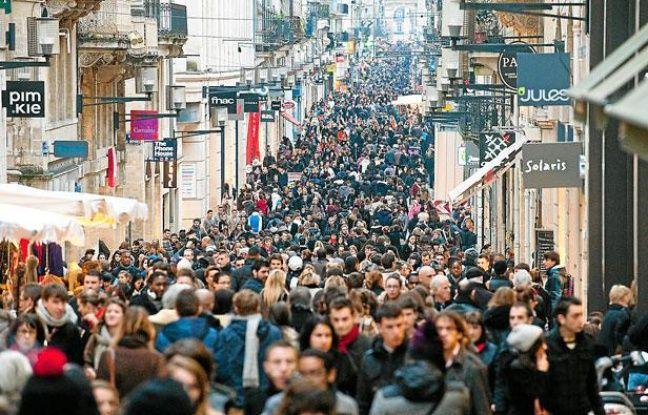 La rue Sainte-Catherine, à Bordeaux