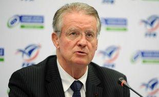 Bernard Lapasset à Marcoussis le 8 novembre 2012.