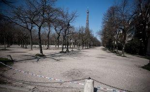 Autour du Champs-de-Mars durant le confinement.