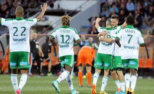 Les Verts n'ont pas encore eu l'occasion d'exulter en Coupe d'Europe cette saison. AFP PHOTO/FRED TANNEAU