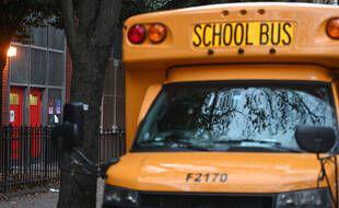 Un bus scolaire, à New York le 18 novembre 2020.