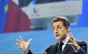 Nicolas Sarkozy, hier, s'exprimant devant 1 700 cadres de Pôle emploi.