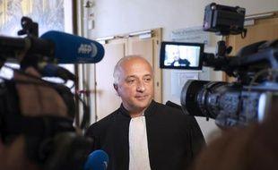 Erick Campana, l'avocat de Camille Abboche, l'ancien secrétaire général adjoint de la CFTC à la Société nationale Corse Méditerranée, à l'ouverture du procès à Marseille le 10 juin 2015