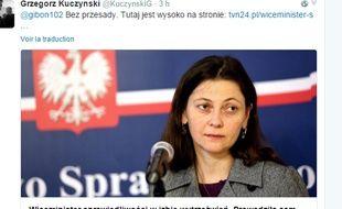 La vice-ministre de la justice polonaise a été limogée du gouvernement après avoir été interpellée avec 2 g d'alcool par litre de sang au volant de sa voiture.