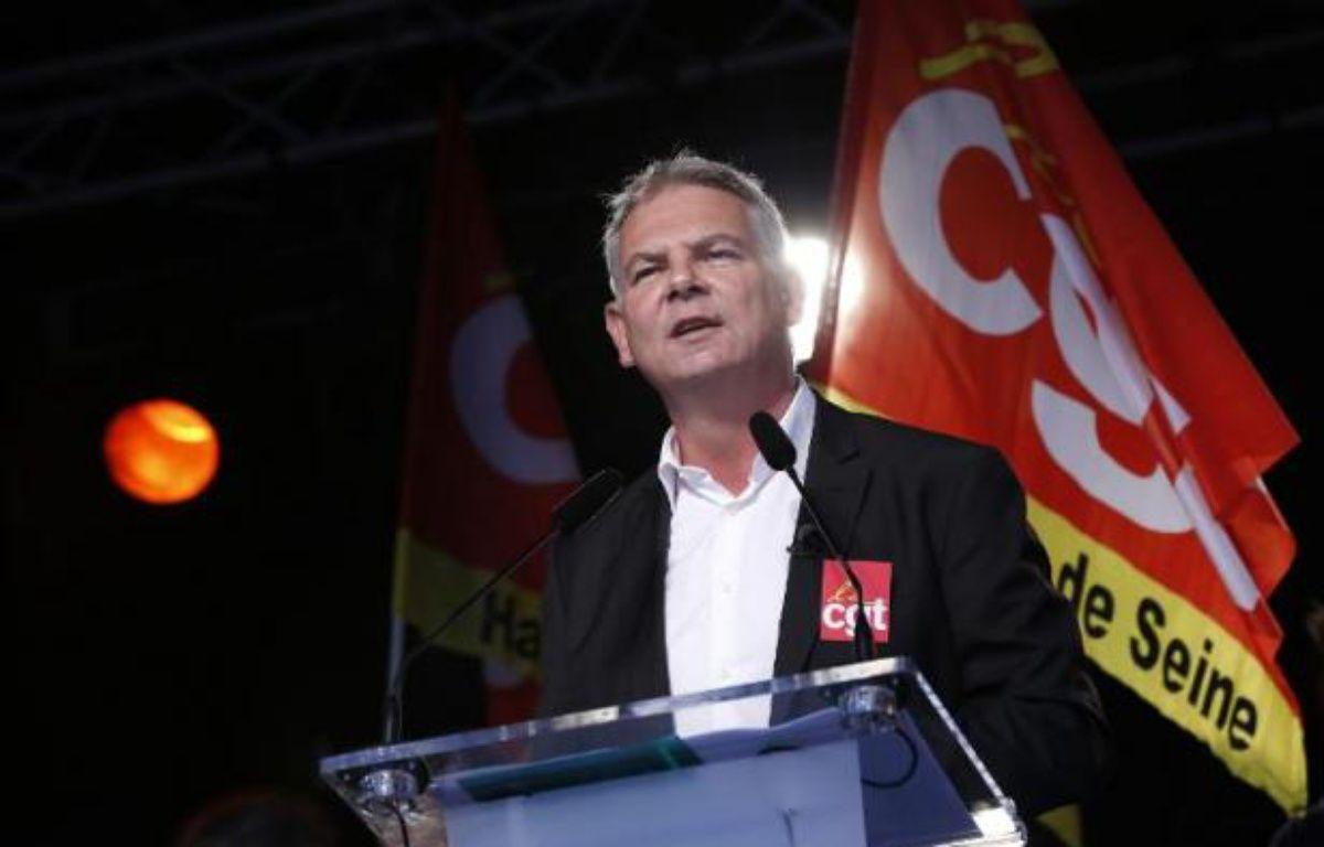 Le secrétaire général de la CGT Thierry Lepaon le 16 octobre 2014 à Paris – Thomas Samson AFP