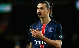 L'attaquant du PSG Zlatan Ibrahimovic contre Reims, le 20 février 2016 au Parc des Princes.