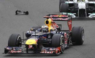 Sebastien Vettel sur le circuit d'Interlagos, le 25 novembre 2012