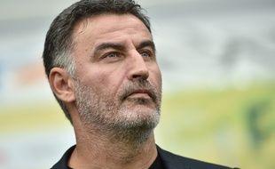 Christophe Galtier, le 21 septembre dernier lors du match entre Nantes et l'ASSE (0-0).