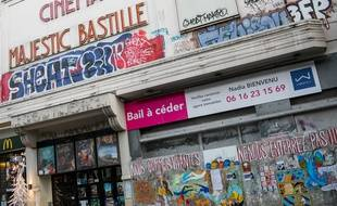 Le cinéma Majestic Bastille fermé pour cause sanitaire.