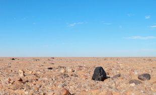 Un fragment de l'astéroïde tombé en octobre 2008 dans le désert au Soudan.