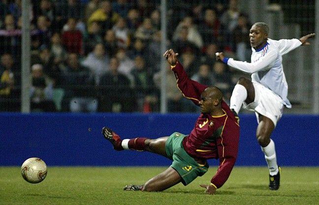 Le Djib lors du fameux matchs des Espoirs contre le Portugal en 2003.