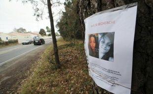 Un avis de recherche à Saint-Trojan sur l'île d'Oléron, le 11 mars 2016, présente la photographie d'Alexia Silva Costa, lycéenne de 15 ans disparue à proximité le 1er février