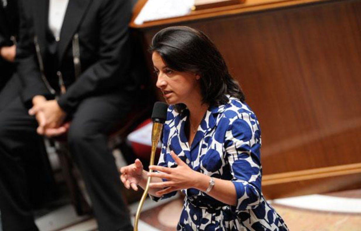 La ministre de l'Egalité des Territoires et du Logement Cécile Duflot à l'Assemblée nationale, le 17 juillet 2012. – WITT/SIPA