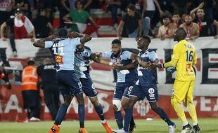 Les joueurs du Havre face à Ajaccio