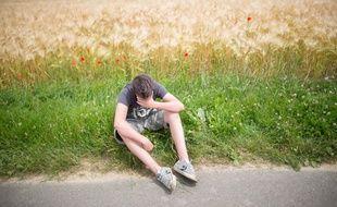 Adolescent déprimé, illustration.
