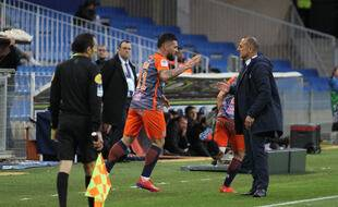 Montpellier / Guingamp : Andy Delort et Michel Der Zakarian.