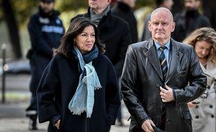 Anne Hidalgo et Christophe Girard à Paris, le 4 octobre 2019.