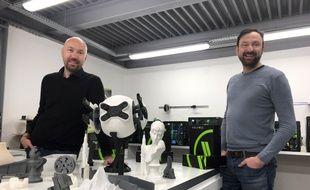 Stéphane Malaussena et Gérard Luppino, fondateurs de Volumic 3D