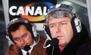 Charles Biétry et Michel Denisot au parc des Princes en 1985