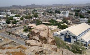 Vue générale de la ville de Jaar, dans le sud du Yémen, le 22 juin 2012