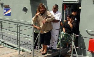 Le naufragé mexicain José Ivan à son arrivée à Majuro, le 3 février 2014 aux Iles Marshall