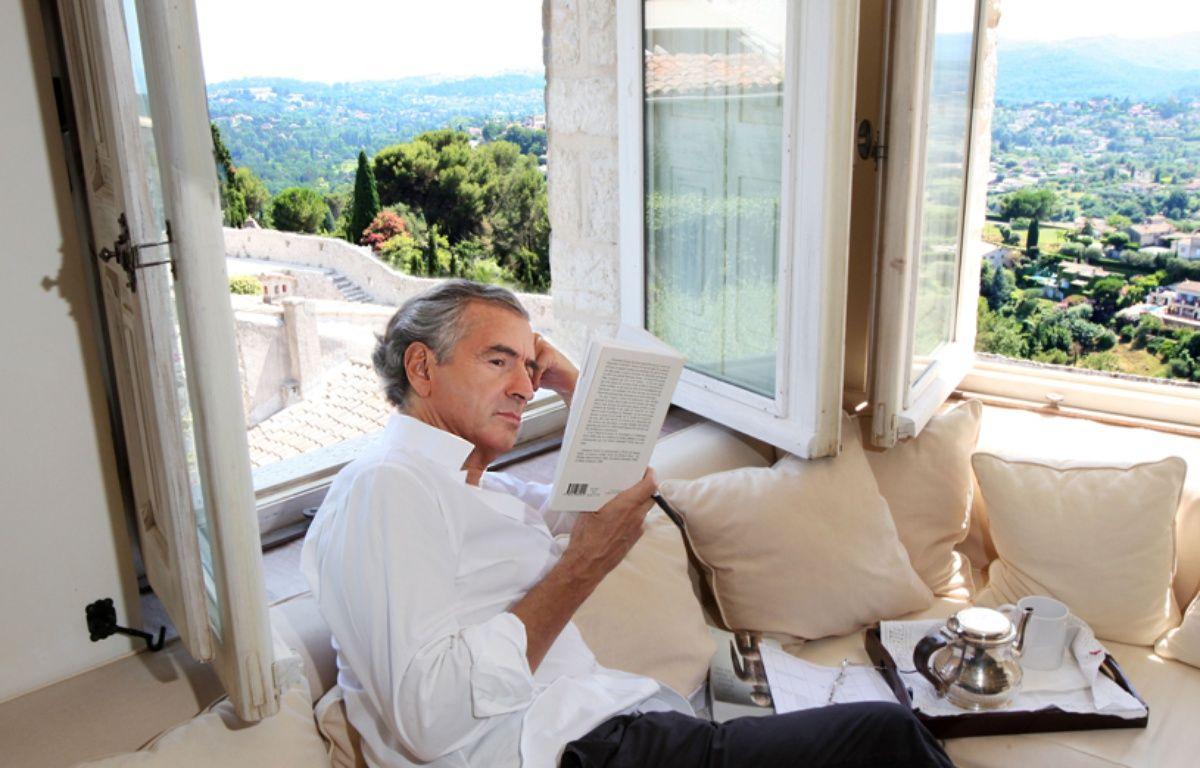 Bernard-Henri Lévy à Saint-Paul-de-Vence en juillet 2013. –  DUCLOS/SIPA